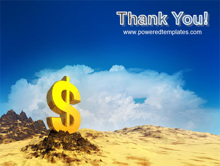 dollar in desert powerpoint template backgrounds 02172