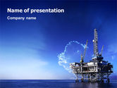 Gas+furnace: Drilling Platform PowerPoint Template #02356