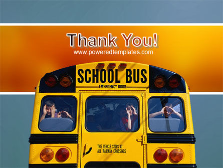 School Bus Aft PowerPoint Template Slide 20