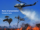 Cars and Transportation: Wildfire PowerPoint Template #02591