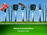 Food & Beverage: BBQ And Grill Tools PowerPoint Template #02709