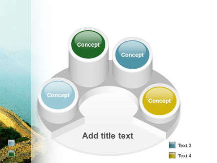 Fragment Of Great Wall of China PowerPoint Template Slide 12