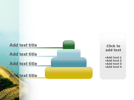 Fragment Of Great Wall of China PowerPoint Template Slide 8