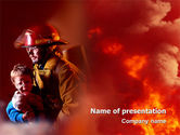 People: Fire Alarm PowerPoint Template #02804