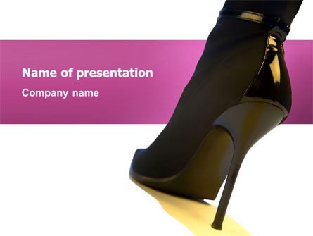 Female Fashion Shoes PowerPoint Template