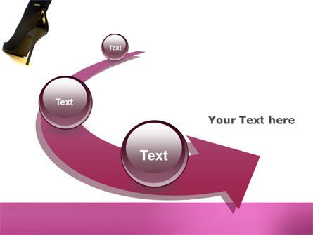 Female Fashion Shoes PowerPoint Template Slide 6