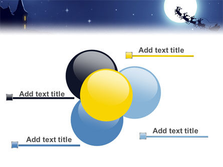 Santa's Sleigh On The Background Of The Moon PowerPoint Template Slide 10