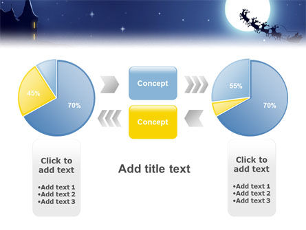 Santa's Sleigh On The Background Of The Moon PowerPoint Template Slide 11