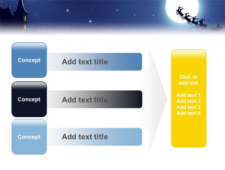 Santa's Sleigh On The Background Of The Moon PowerPoint Template Slide 12