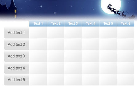 Santa's Sleigh On The Background Of The Moon PowerPoint Template Slide 15