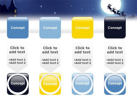 Santa's Sleigh On The Background Of The Moon PowerPoint Template Slide 18
