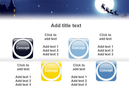Santa's Sleigh On The Background Of The Moon PowerPoint Template Slide 19