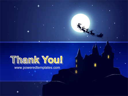 Santa's Sleigh On The Background Of The Moon PowerPoint Template Slide 20