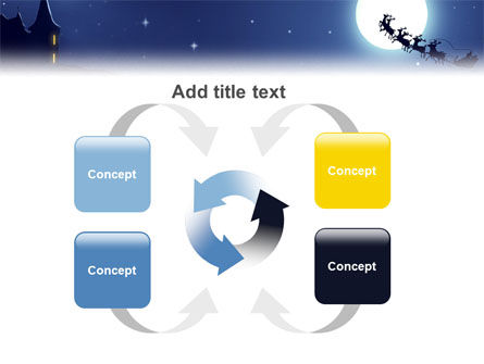 Santa's Sleigh On The Background Of The Moon PowerPoint Template Slide 6