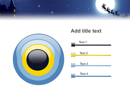 Santa's Sleigh On The Background Of The Moon PowerPoint Template Slide 9