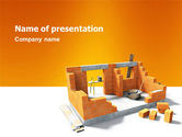 Construction: Incomplete Building PowerPoint Template #03143