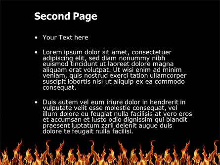Fire PowerPoint Template Slide 2