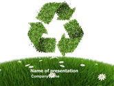 Nature & Environment: Recycling Symbol PowerPoint Template #03397