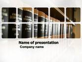 Study+abroad: Law Books PowerPoint Template #03787