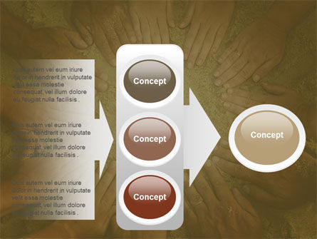 Unity Hands Touching Ground PowerPoint Template Slide 11