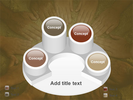 Unity Hands Touching Ground PowerPoint Template Slide 12