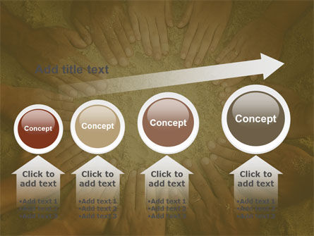 Unity Hands Touching Ground PowerPoint Template Slide 13
