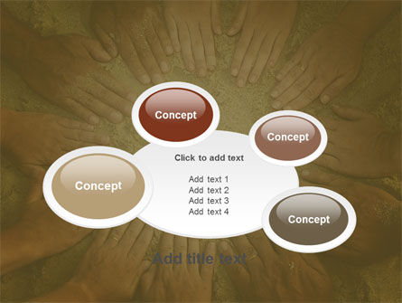 Unity Hands Touching Ground PowerPoint Template Slide 16