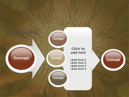 Unity Hands Touching Ground PowerPoint Template Slide 17