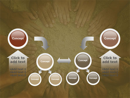 Unity Hands Touching Ground PowerPoint Template Slide 19