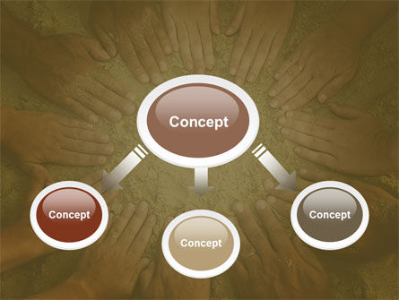 Unity Hands Touching Ground PowerPoint Template Slide 4