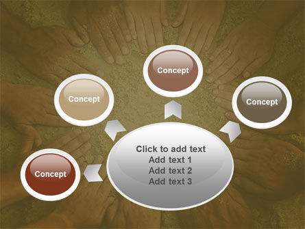 Unity Hands Touching Ground PowerPoint Template Slide 7