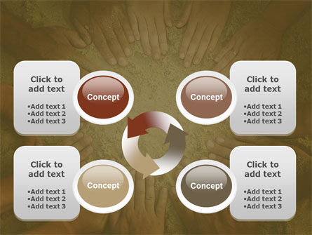 Unity Hands Touching Ground PowerPoint Template Slide 9