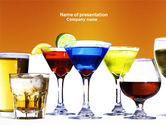 Drinking alcohol: Strong Drinks PowerPoint Template #04199