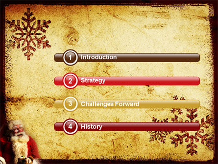Free Santa Clause PowerPoint Template Slide 3