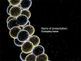 Technology and Science: Molecule Cluster PowerPoint Template #04266