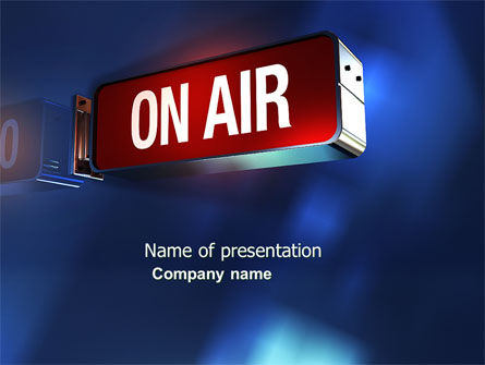 live broadcast powerpoint template backgrounds 04285