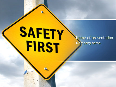 safety first powerpoint template backgrounds 04449