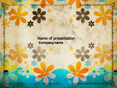 Hawaii+theme: Pastel Floral Theme PowerPoint Template #04469
