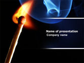 Gas+furnace: Gas Cooker PowerPoint Template #04808