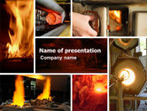 Gas+furnace: Metallurgy PowerPoint Template #04835