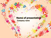 Revival: Blooming Heart PowerPoint Template #05055