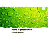 Abstract/Textures: Green Water Drops PowerPoint Template #05216