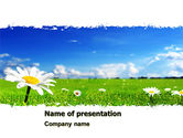 Nature & Environment: Spring Field PowerPoint Template #05231