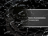 Northern lights: Star Map PowerPoint Template #05321