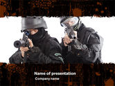 Military: SWAT PowerPoint Template #05404
