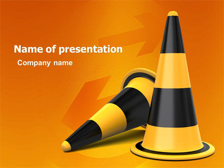Traffic Cones Powerpoint Template Backgrounds 05631