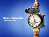 Drinking alcohol: Water Meter PowerPoint Template #05692
