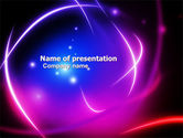 Northern lights: Bright Lights Abstract PowerPoint Template #05755