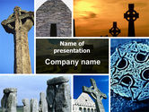 Religious/Spiritual: Celtic Revival PowerPoint Template #05840