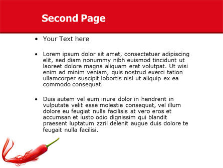 Chili Pepper PowerPoint Template Slide 2